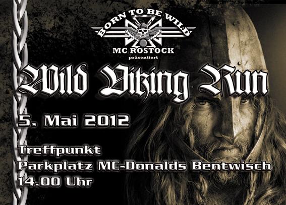 Ankündigung der Motorrad-Ausfahrt Wild Viking Run 2012