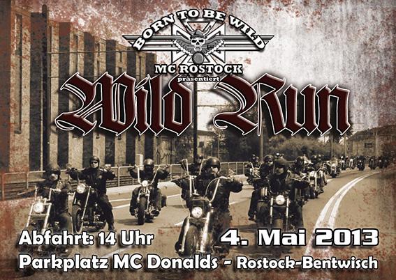 Einladung zur Ausfahrt des Born To Be Wild MC Rostock